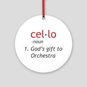 Cello Definition Ornament (Round)