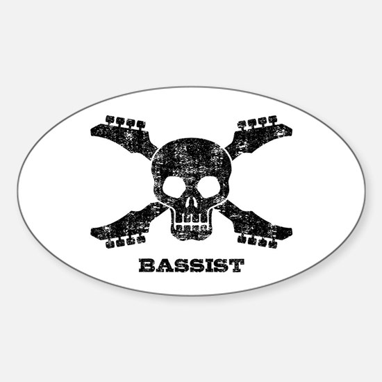 Bassist Sticker (Oval)
