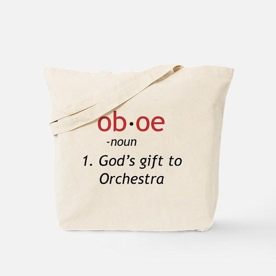 Oboe Definition Tote Bag