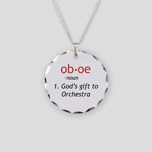 Oboe Definition Necklace Circle Charm