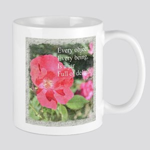 Rumi Quote Painted Rose Mug