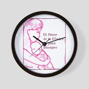 Amor de Madre Wall Clock