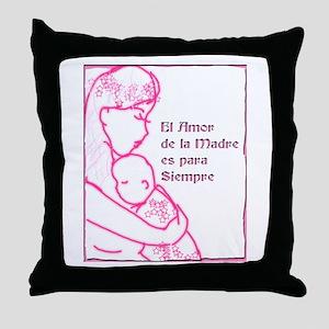 Amor de Madre Throw Pillow