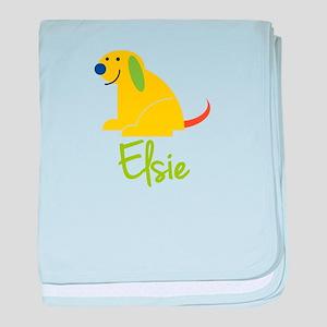 Elsie Loves Puppies baby blanket