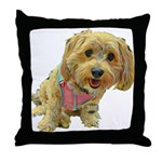 what up dog Throw Pillow