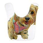 what up dog Polyester Baby Bib