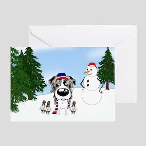 Aussie Snow Greeting Card