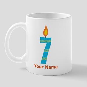 Custom 7th Birthday Candle Mug