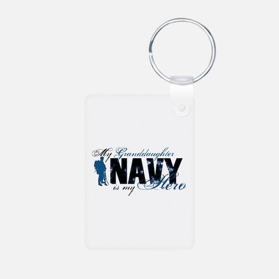 Granddaughter Hero3 - Navy Keychains