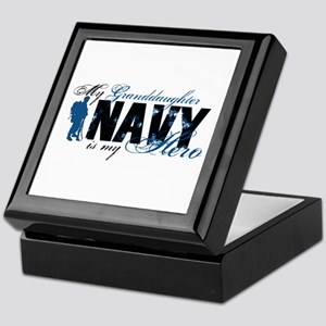 Granddaughter Hero3 - Navy Keepsake Box