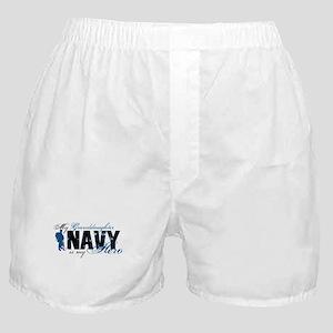 Granddaughter Hero3 - Navy Boxer Shorts