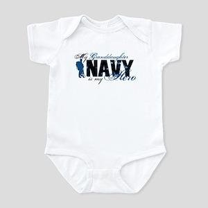 Granddaughter Hero3 - Navy Infant Bodysuit