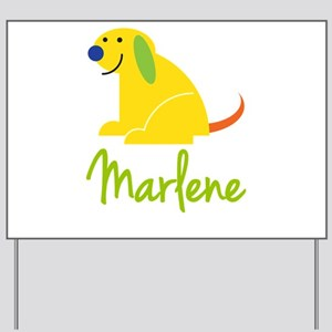 Marlene Loves Puppies Yard Sign