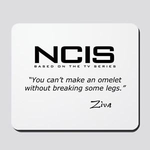 NCIS Ziva Omelet Quote Mousepad