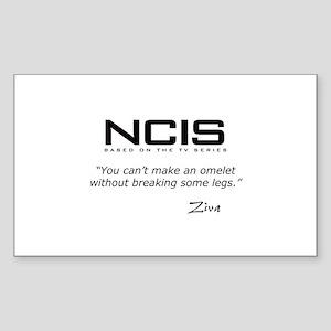 NCIS Ziva Omelet Quote Sticker (Rectangle)