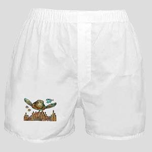 Sea Turtle Over Atlantis Boxer Shorts