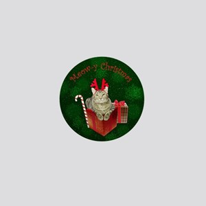 Meow-y Christmas Mini Button