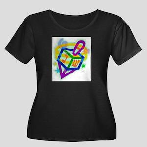Holidays Women's Plus Size Scoop Neck Dark T-Shirt