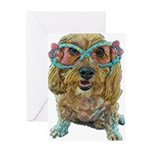 rose colored glasses Greeting Cards