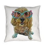 rose colored glasses Everyday Pillow