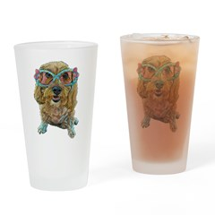 rose colored glasses Drinking Glass