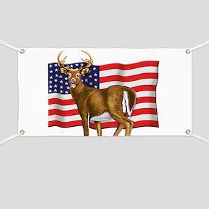 American White Tail Deer Buck Banner