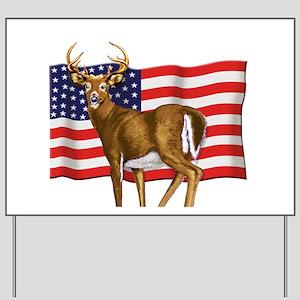 American White Tail Deer Buck Yard Sign