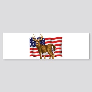 American White Tail Deer Buck Sticker (Bumper)