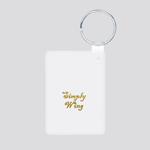 Simply Wing Aluminum Photo Keychain