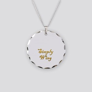 Simply Wing Necklace Circle Charm