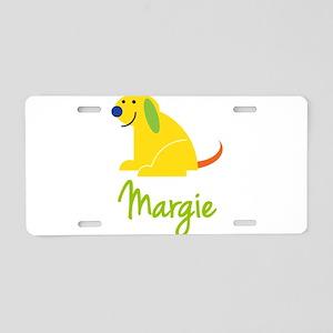 Margie Loves Puppies Aluminum License Plate