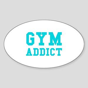 GYM ADDICT Sticker (Oval)