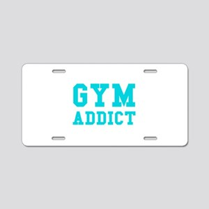 GYM ADDICT Aluminum License Plate