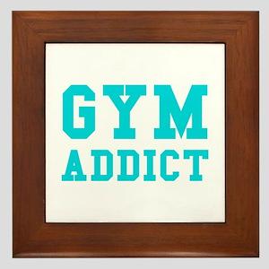 GYM ADDICT Framed Tile