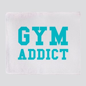 GYM ADDICT Throw Blanket