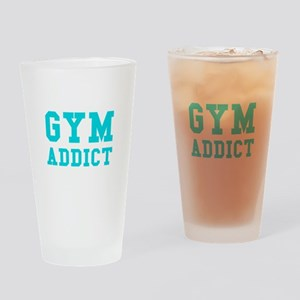 GYM ADDICT Drinking Glass