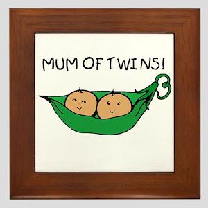 Mum of Twins Framed Tile