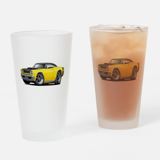 1968 Super Bee Yellow Car Drinking Glass