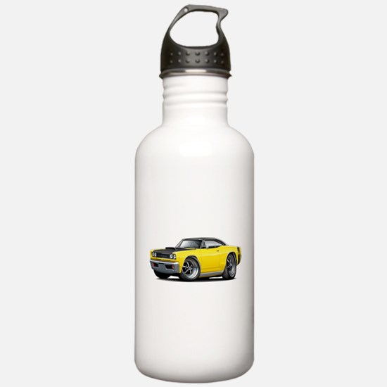 1968 Super Bee Yellow Car Water Bottle