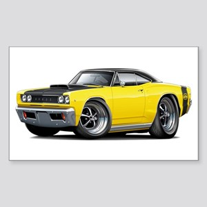 1968 Super Bee Yellow Car Sticker (Rectangle)