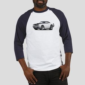 1968 Super Bee White Car Baseball Jersey