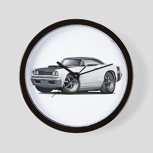 1968 Super Bee White Car Wall Clock