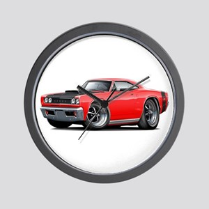 1968 Super Bee Red Car Wall Clock