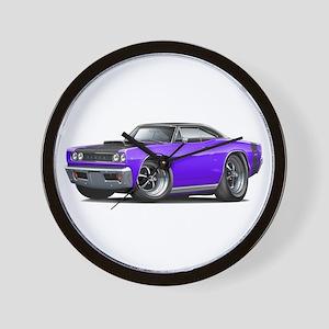 1968 Super Bee Purple Car Wall Clock