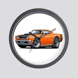 1968 Super Bee Orange Car Wall Clock