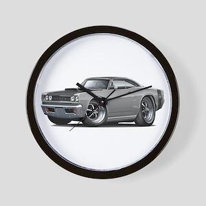 1968 Super Bee Grey Car Wall Clock