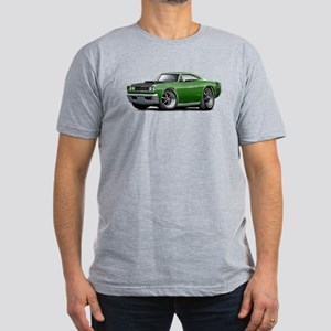 1968 Super Bee Green Car Men's Fitted T-Shirt (dar