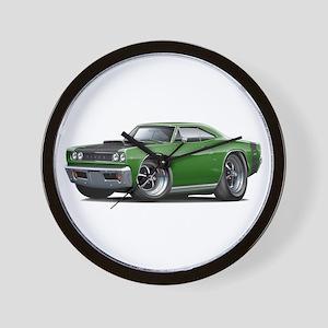 1968 Super Bee Green Car Wall Clock
