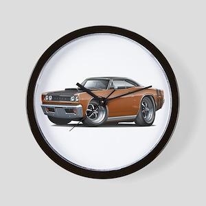 1968 Super Bee Brown Car Wall Clock