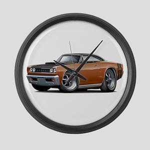 1968 Super Bee Brown Car Large Wall Clock
